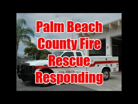 Palm Beach County Fire Rescue EMS Truck Responding