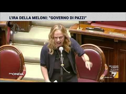 L'ira di Meloni: 'Governo di pazzi'