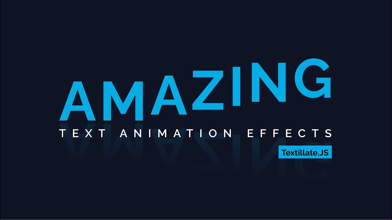 How to Create TextillateJS Text Animation Effects | Textillate.js