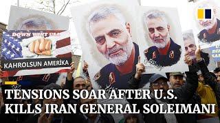Iran-US tensions soar as thousands mourn slain general Qassem Soleimani