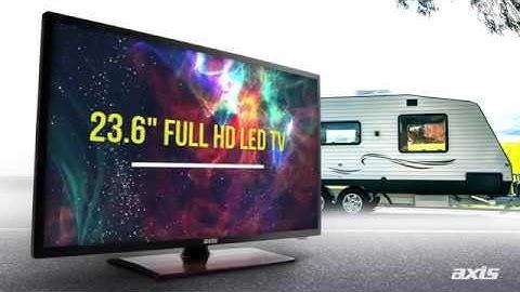 """All-New Axis 23.6"""" FULL HD 12/24/240 Volt - Smart TV"""