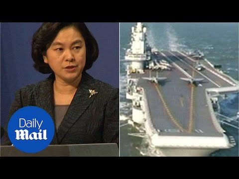 China defends sailing aircraft carrier into South China Sea - Daily Mail