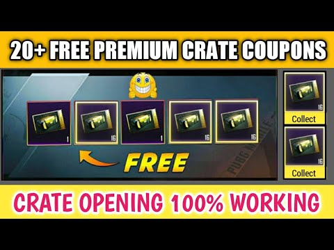 How To Get Free Premium Crates Coupon ! Pubg Mobile Free Crate Coupon Unlimited ! 20+ Crate Opening