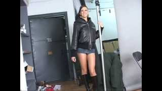 Yaxeni Interrupts A GoHoochie.com Shoot in A Micro-Miniskirt!
