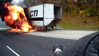 Helmet Cam - Semi Trailer Fire