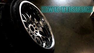 stretching tires 235 40r18 on 18x10 5 jdm hella flush stanced