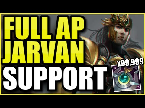(INSANE GAME) THIS NEW FULL AP JARVAN SUPPORT DOES INSANE HEALING, DAMAGE, AND SHIELDING!