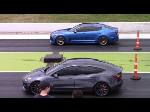 KIA Stinger GT1 RWD vs BMW 440i, Tesla Model 3, EVO & WRX 1/4 Mile