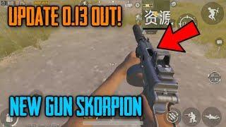 UPDATE 0.13 OUT ! New Gun SKORPION First Gameplay | PUBG Mobile New Update Lightspeed Whats New