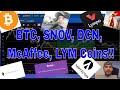 Bitcoin, Snovio Coin, Dentacoin, John McAffee, Lympo Coin