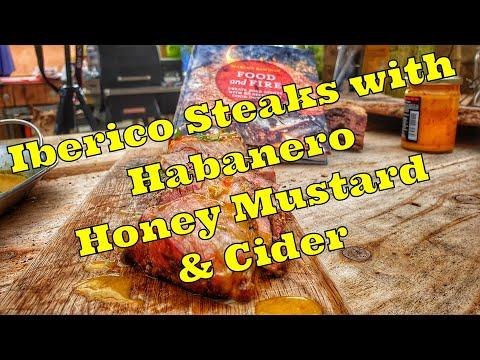 Iberico pork steaks with Habanero honey mustard & cider