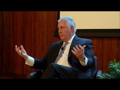 Rex Tillerson explains his position on climate change