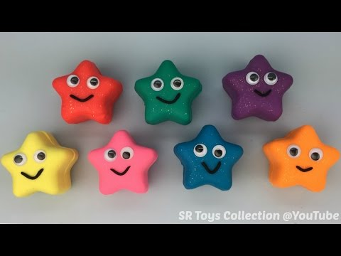 Sparkle Play Dough Stars with Mickey Mouse and Minnie Mouse Molds Fun for Kids