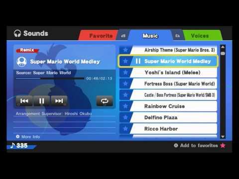 Super Smash Bros. Wii U OST - Super Mario World Medley (Direct Feed)