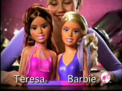 2007 Barbie Teresa u0026 Barbie Stylinu0027 Heads Commercial  sc 1 st  YouTube & 2007 Barbie Teresa u0026 Barbie Stylinu0027 Heads Commercial - YouTube
