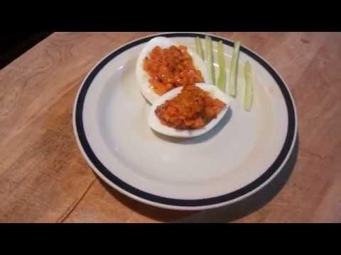Huevos Rellenos de Parmesano y Zanahoria - Cocina Facil 101