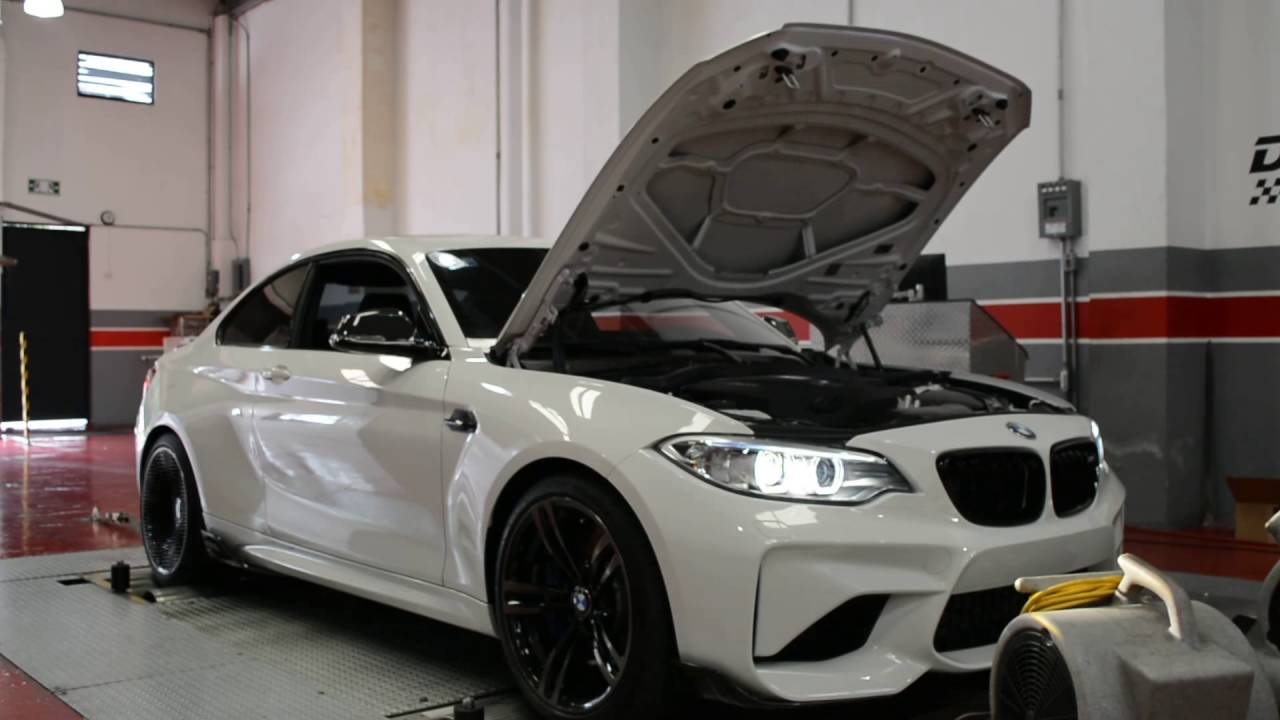 bmw m2 dyno test with tuning box and downpipe vrtuned. Black Bedroom Furniture Sets. Home Design Ideas