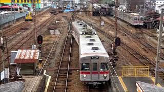 昨年、踏切事故に遭った長野電鉄8500系T3編成及び、車両解体が行われた須坂駅構内屋代方の今。