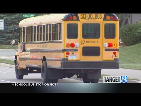 Target 8: Should you always stop for a school bus?