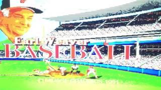 Earl Weaver Baseball Sega Genesis Gameplay