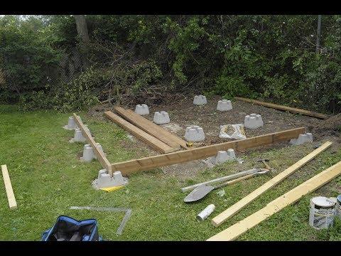 Amateur Shed Build Part 2 The Foundation