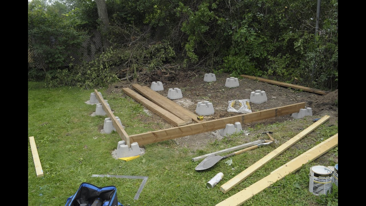 Amateur Shed Build Part 2 The Foundation Youtube