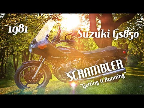 "Suzuki GS850 SCRAMBLER Motorcycle Build #1 ""GETTING IT RUNNING"""