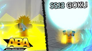 New SSJ3 Goku Full Showcase in Anime Battle Arena! | Roblox