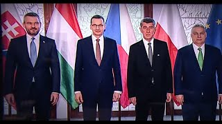 A visegrádi országok miniszterelnökeinek rendkívüli sajtótájékoztatója
