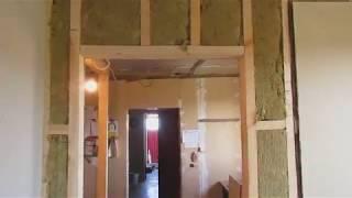 как сделать перегородку из фанеры с дверью