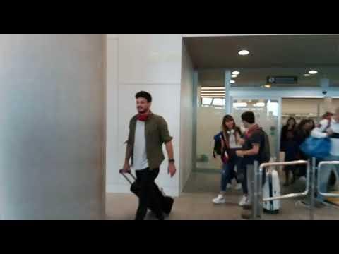 Los concursantes de 'OT' llegan al aeropuerto de Lavacolla