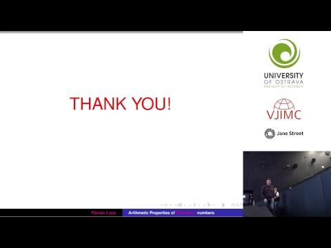 VJIMC 2017 - Plenary Lecture - Arithmetic Properties of Fibonacci Numbers - Florian Luca