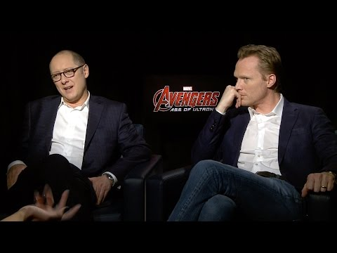 James Spader and Paul Bettany Avengers: Age of Ultron Interviews