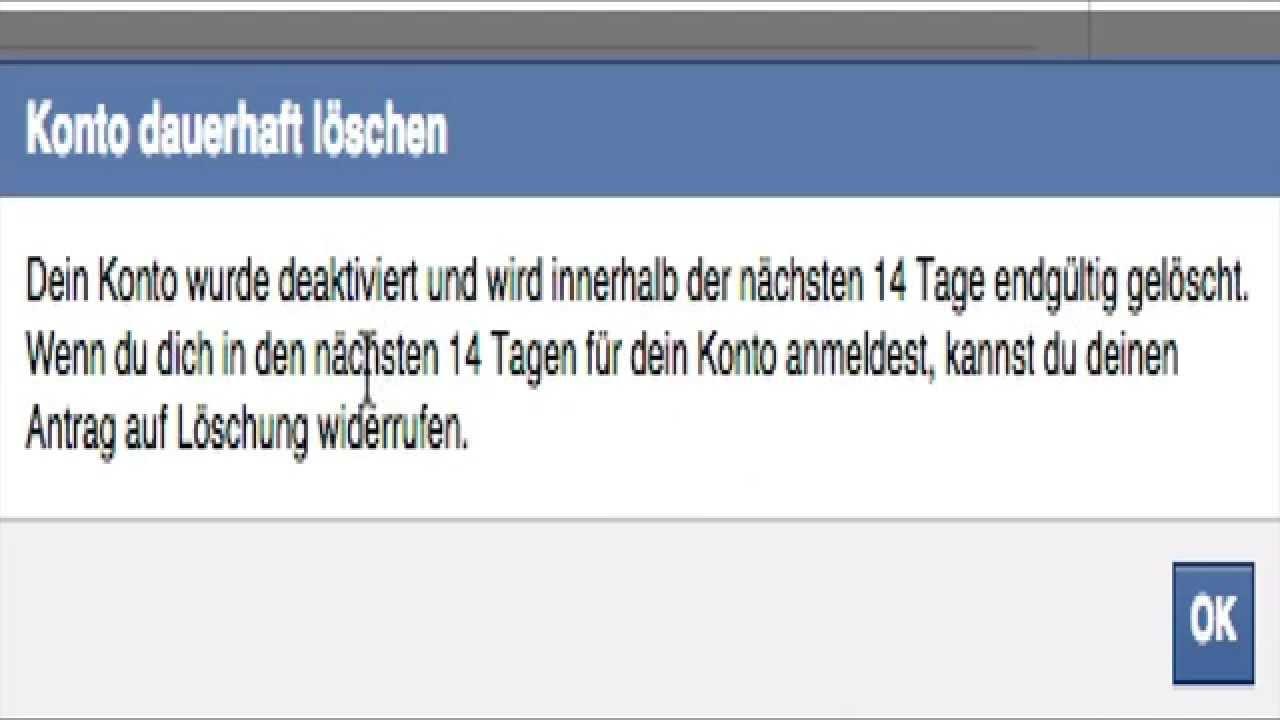 Facebook Account dauerhaft löschen - YouTube
