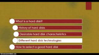 Hard disk technologies