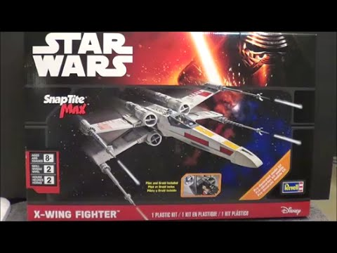 Revell Star Wars BIG 1/30th X-Wing Fighter SnapTite Max Kit Review @ SMKR