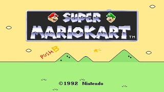 Super Mario Kart - SNES 150cc Grand Prix All Courses