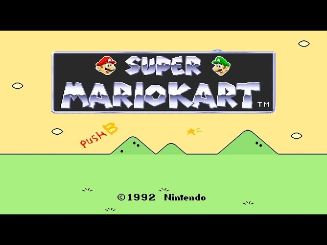 Super Mario Kart - SNES 150cc Grand Prix All Courses