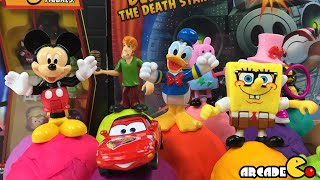 Play Doh Surprise Eggs Angry Birds Spongebob Peppa Pig Tom and Jerry Disney Cars 2 Mickey Mouse