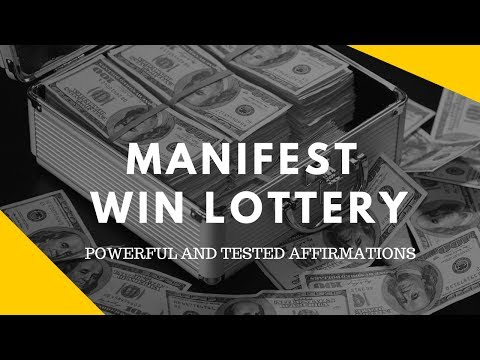 MOST POWERFUL AFFIRMATION:  THAT WIN YOU THE JACKPOT LOTTERY