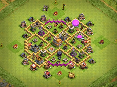 clash of clans th7 defense base coc gaming land youtube