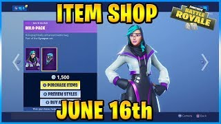 NEW Synapse Skin and Hex Wave Wrap! | FORTNITE ITEM SHOP TODAY! (June 16th, 2019)