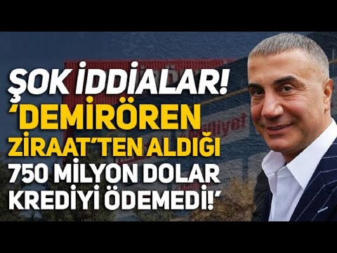 Sedat Peker'den 'Demirören-Ziraat Bankası' iddiası