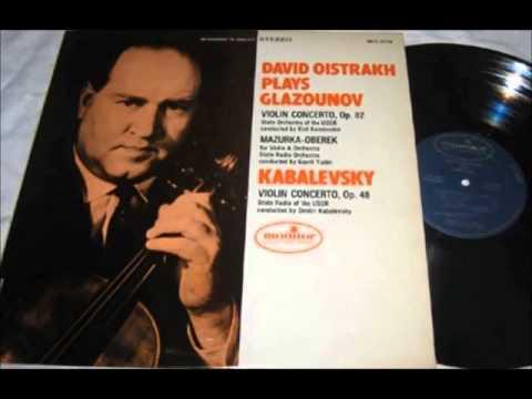 Kabalevsky Violin Concerto - David Oistrakh