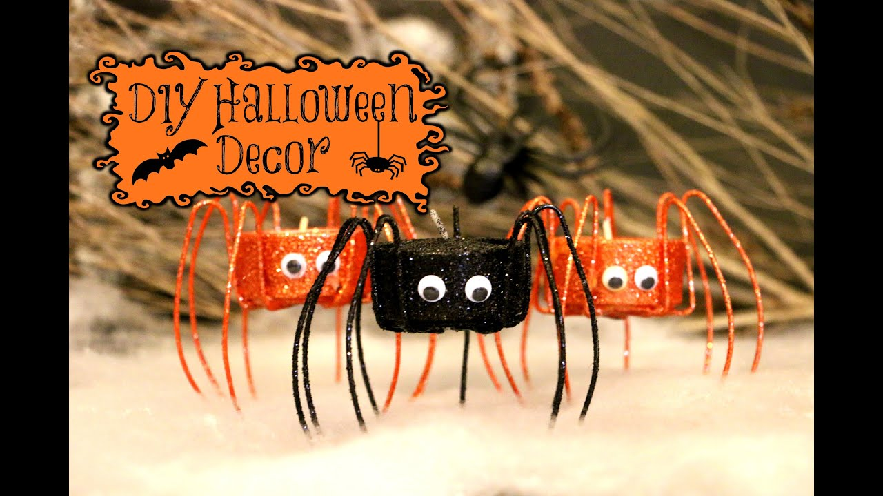 diy spooky halloween decorations youtube - Homemade Halloween Centerpieces