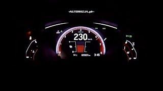Honda Civic 1.5 VTEC Turbo 182 hp acceleration 0-100 km/h, 0-200 km/h, 0-400 m, top speed