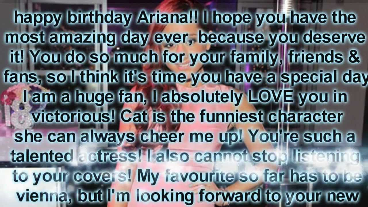Happy 18th birthday ariana grande from myself your ariana army happy 18th birthday ariana grande from myself your ariana army youtube kristyandbryce Image collections