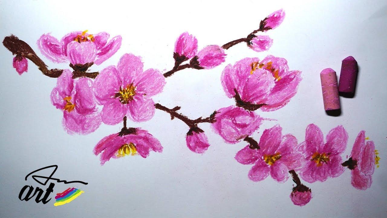 It is an image of Slobbery Sakura Flower Drawing