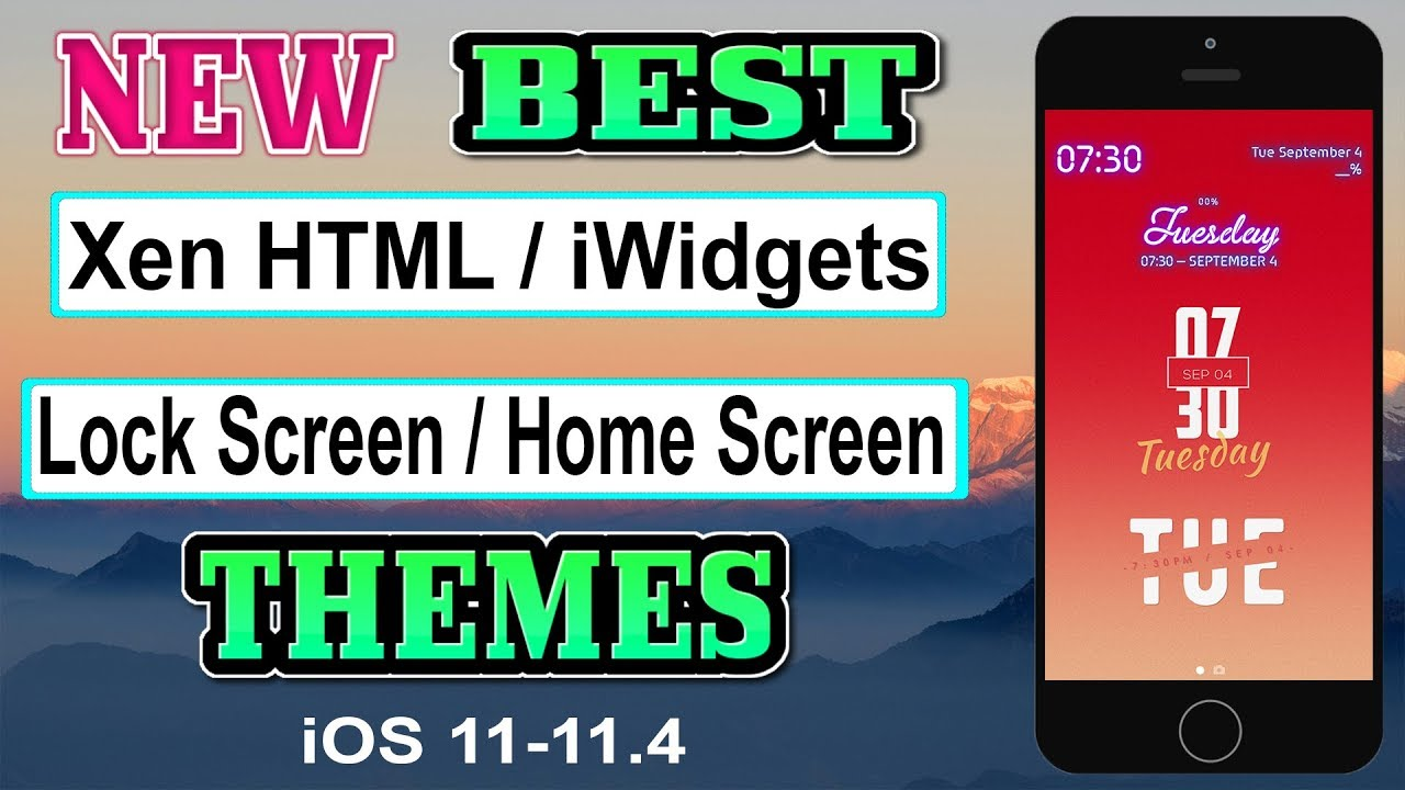 NEW BEST Xen HTML / iWidgets / Lock Screen / Home Screen Themes For iOS  11-11 4 Electra Jailbreak by Fast Hindi