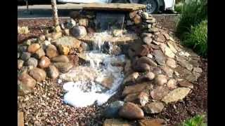Envisions Landscape Construction Ashland, Ohio 419-557-8386 Waterless Waterfall 2012